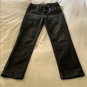Levi's 724 high rise crop jeans sz26